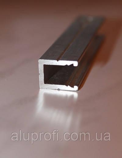 Профиль алюминиевый П-образный торцевой под лист 4мм