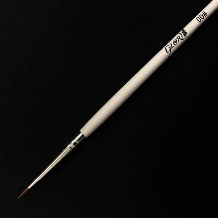 КИСТЬ ДЛЯ РИСОВАНИЯ №00, 5 мм длинна ворса, фото 2