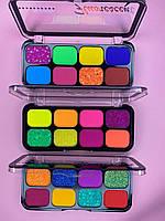 Палетка кислотных теней для век s.t.r. color 8 цветов 7913 (3 вида)