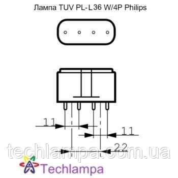 Лампа бактерицидная TUV PL-L 36W/4P Philips