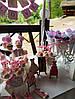 Свадебный Кенди Бар в стиле Шебби Шик на тележке, фото 5