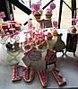 Свадебный Кенди Бар в стиле Шебби Шик на тележке, фото 7