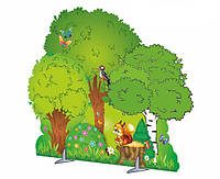 Декорації дерева, кущі, паркани, пні, веселка, квіти, гриби