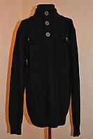 Кофта черная с большими пуговицами на мальчика