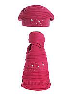 Красивый модный вязаный берет  и шарфик.