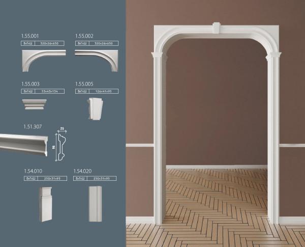 Декоративное обрамление арок и дверей