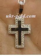 Крест серебро со вставками золота