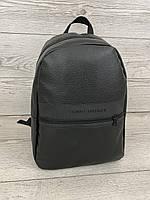 Мужской портфель рюкзак в школу и в город Tommy Hilfiger черный.