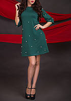 """Женское зеленое платье """"Жемчужина"""", размеры М - ХXL"""