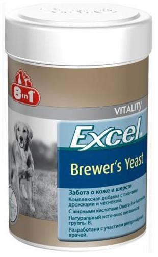 Витамины для кожи и шерсти собак и кошек 8 в 1 Excel Brewers Yeast, 780 таблеток