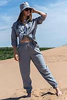 Женский костюм тройка из льна Эльза 44-50 размер разные цвета