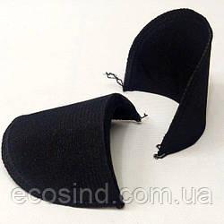 Плечевые накладки (подплечники блузочные) черные (СИНДТЕКС-1248)