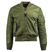 Мужская летная куртка MA-1 Slim Fit Alpha industries (Альфа индастриз) слим фит
