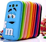 Чехол M&M's для Samsung Galaxy S3 I9300 голубой, фото 3