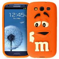 Чехол M&M's для Samsung Galaxy S3 I9300 оранжевый
