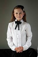 """Шкільна нарядна блузка """"Світ блуз"""" мод. 2050 біла"""