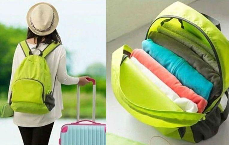 Рюкзак Setavir складной водонепроницаемый, зеленый