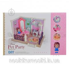 Набор мебели 686-004 для мини фигурок, мини кукол типа лол, флокс - гостинная комната, куколка, 3 питомца