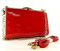 Клатч-бокс сумочка лаковая женская красная Shengkasilu 61873-1