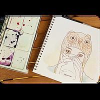 Альбом для рисования Зелёный чай, 40 л
