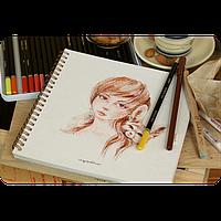 Альбом для рисования Лиза и Макар, 40 л