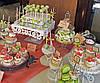 Свадебный Кенди бар Candy Bar в персиково-салатовых тоннах, фото 3