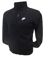 Мужская зимняя спортивная толстовка (батник) на молнии Nike черная