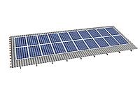 Комплект на 20 модулей на металлочерепичную скатную крышу.