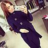 Пальто женское с пуговицами P385