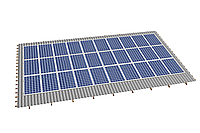 Комплект на 30 модулей на металлочерепичную скатную крышу.