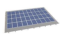 Комплект на 40 модулей на металлочерепичную скатную крышу.
