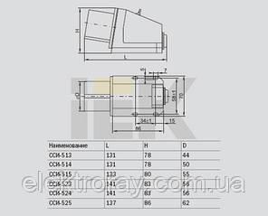 Розетка 125 стационарная 3Р+РЕ+N 32А 380В IP44 IEК, фото 2