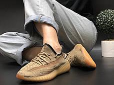 Женские кроссовки в стиле Adidas Yeezy Boost 350 v2 Beige Black, фото 3
