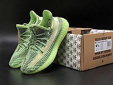 Рефлектив   Жіночі кросівки в стилі Adidas Yeezy Boost 350 v2 Green Reflective, фото 2