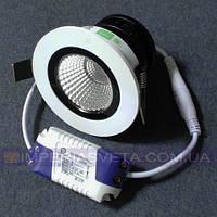 Светильник светодиодный дневного света IMPERIA 5w круг поворотный встраиваемый LUX-531300