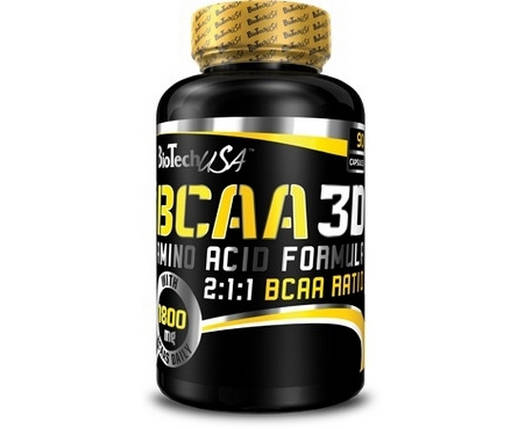 Аминокислота BioTech BCAA 3D 90 капс, фото 2