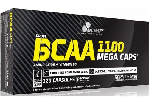 Аминокислота Olimp BCAA Mega 1100 120 капсул