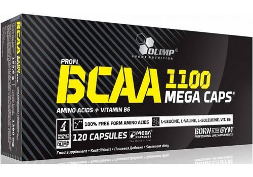 Аминокислота Olimp BCAA Mega 1100 120 капсул, фото 2