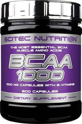 Аминокислота Scitec Nutrition BCAA 1000 300 капсул, фото 2