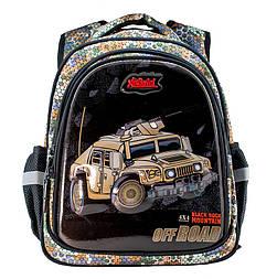 Школьный рюкзак с ортопедической спиной для мальчика военный Hammer