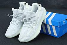 Рефлектив | Жіночі кросівки в стилі Adidas Yeezy Boost 350 v2 White Silver Reflective, фото 2