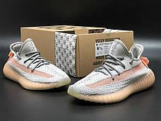 Жіночі кросівки в стилі Adidas Yeezy Boost 350 v2 Grey Orange, фото 2