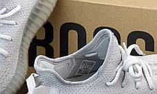 Жіночі кросівки в стилі Adidas Yeezy Boost 350 v2 Light Grey, фото 3