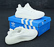 Мужские кроссовки в стиле Adidas Yeezy Boost 350 v2 Full White, фото 3