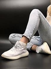 Жіночі кросівки в стилі Adidas Yeezy Boost 350 v2 Full White, фото 2