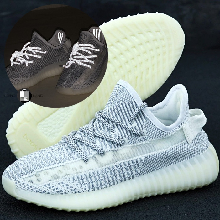 Рефлектив   Мужские кроссовки в стиле Adidas Yeezy Boost 350 v2 White Reflective