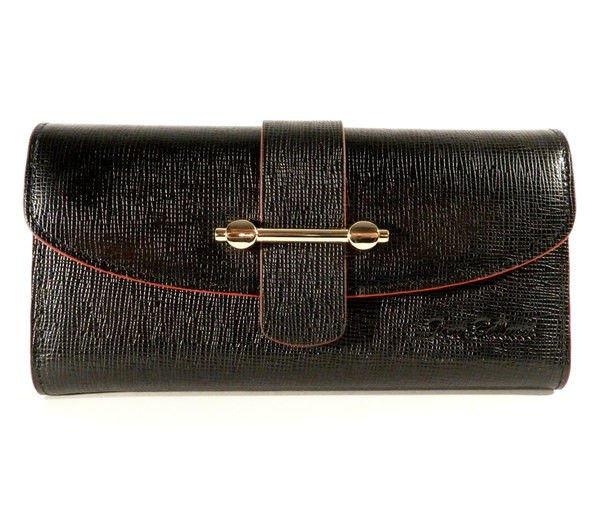 Кошелек, купюрник кожаный женский черный Tony Bellucci 519-985 Турция