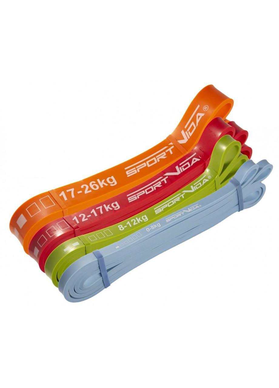 Еспандер-петля (гума для фітнесу і спорту) SportVida Power Band 4 шт 0-26 кг SV-HK0190-2