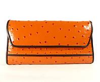 Кошелек, купюрник кожаный женский оранжевый Tony Bellucci 04917-984 Турция