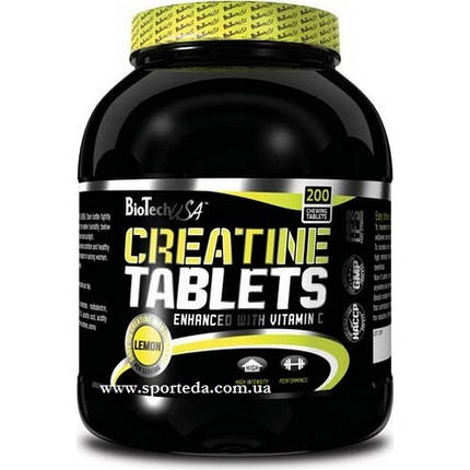 Creatine Tablets 200 tabs lemon, фото 2
